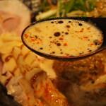 鯛担麺専門店 抱きしめ鯛 - 鯛担麺(スープ)