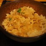 鯛担麺専門店 抱きしめ鯛 - 鯛めし(鯛担麺のスープをかける)