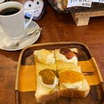コーヒーショップ カコ - シャンティー 250円。ブレンドコーヒー 500円。