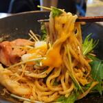 鯛担麺専門店 抱きしめ鯛 - 汁なし鯛担麺(温泉卵)