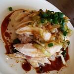 中華厨房 らんたな - 蒸し鶏の冷菜