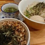中華そばムタヒロ - ニボシまぜそば(大)&スープ&鶏マヨ丼 2020.06.17