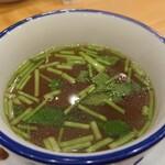 中華そばムタヒロ - まぜそばとセットのスープ(追飯かスープが選べます) 2020.06.17
