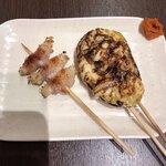 串焼き 勝 - 肉巻きエノキ