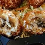 浜焼きダイニング和師 - 浜焼きダイニング 和師 @西葛西 タルタルたっぷりカキフライ弁当 サクサク衣に包まれる小粒の牡蠣はプリプリ食感