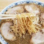 あさひ楼 - チャーシュー(普通)麺アップ