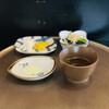 天舞 - 料理写真:小鉢、お新香、抹茶塩、天汁