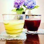 Organic Cafe ゆきすきのくに - りんごとぶどうの自家製発酵ジュース。シュワシュワ鼻発泡^^