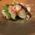酒菜処 きっすい - 鯛、とり貝、タコ、鱧湯引き