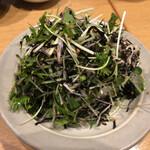 捏製作所 - 豆腐と有明海苔のサラダ