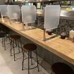 175°DENO〜担担麺〜 - 飛沫防止ガード設置、感染拡大防止