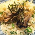 葱や平吉 - 牡蠣の土鍋ご飯