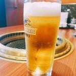 焼肉 腰塚 - ランチビール