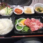 きた川 牛侍 - 熊野牛カルビランチ(ご飯大盛り)