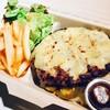 ブッチャーブラザーズ - 料理写真:BIGハンバーグBOX\900 なんと250gのハンバーグ!たっぷりチーズと一緒に