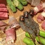 Kushitei - 本日の串揚げ素材