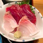 ゆうき丸 - お刺身  鯛とマグロ