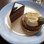 131748014 - ガトーショコラ・メロンと生クリームのメーキ