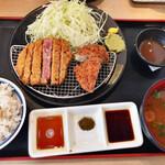 牛カツ京都勝牛 - 牛リブロースカツ牛メンチカツ膳…1012円