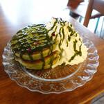 カフェ 坂の下 - 抹茶パンケーキ