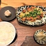 RIBAYON ATTACK - 200616火 東京 RIBAYON ATTACK 油淋鶏定食1,000円