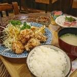 お食事処 こづち - からあげ定食[¥980] 2020年3月