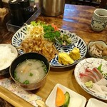 お食事処 こづち - 料理写真:日替わり定食(しょうが焼き)[¥980]2020年3月