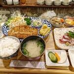 お食事処 こづち - 日替わり定食(とんかつ)[¥980]2020年2月