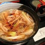 やぶ仙 - イベリコ豚のつけ汁