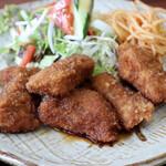 ふじ竹 - 料理写真:まぐろフライしょうゆ味