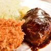 洋食・ワイン フリッツ - 料理写真:【ハンバーグとフライのセット@2,300円】ハンバーグ