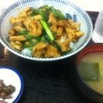上河内サービスエリア(上り線)スナックコーナー - 豚モツ丼