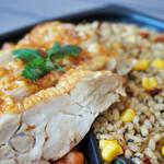 レシピ& マーケット - ローストチキンと玄米のピラフ