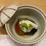 季寄せ料理 暖歩 - ・茄子の山掛け トマト ズッキーニ