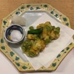 季寄せ料理 暖歩 - ・トウモロコシと枝豆のかき揚げ
