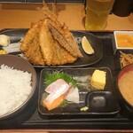 四ツ谷 魚一商店 - 手開きアジフライ¥1000-