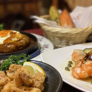 洋食を中心とした多彩な料理をご用意しております
