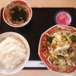 柳 - 料理写真:ホイコーロー定食