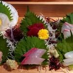 楽喰 - 楽喰御膳のお造り6種盛り
