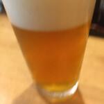 名駅立呑ばっかす - クラフトビールは580円。良いIPAだったがグラスちっちゃい。。