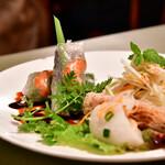 サイゴン・レストラン - 【サイゴンセット@1,480円】春巻三点盛+パパイヤサラダ