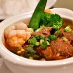 サイゴン・レストラン - 【サイゴンセット@1,480円】旬の野菜とビーフシチューライス