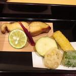 松由 - 鰆の西京焼き・野菜の天ぷら