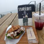 ザシティベーカリー - 白馬豚クロワッサンサンド~☆
