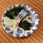 蕎麦切り 旗幟 - 自家製〆鯖730円