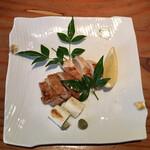 蕎麦切り 旗幟 - 軍鶏塩焼き1,370円