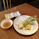 蕎麦切り 旗幟 - ハモの天ぷら1,200円