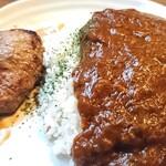 花さんぽ - 料理写真:「カレーハンバーグ」①