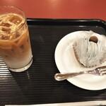 カフェ・ベローチェ - アイスラテ&チョコミントモンブラン