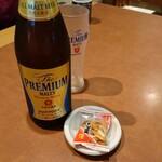 桂木庵 - ドリンク写真:晩酌セットのビール・プレモル